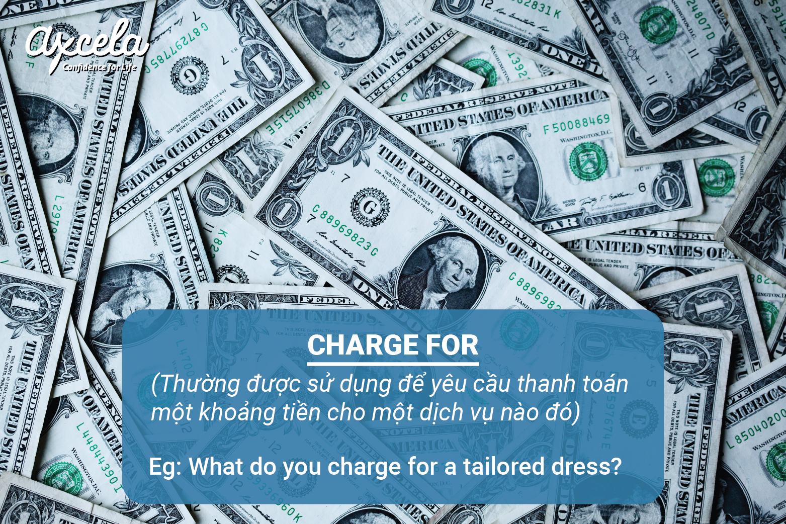 Phân biệt charge for và be charge with
