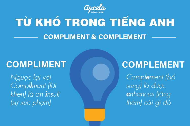 Từ khó trong tiếng anh #6: Compliment vs. Complement